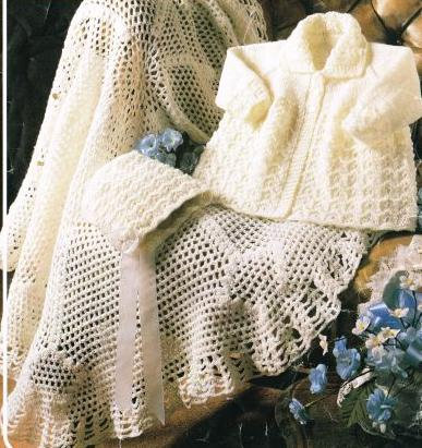 946Ar baby knitting and crochet vintage pattern PDF