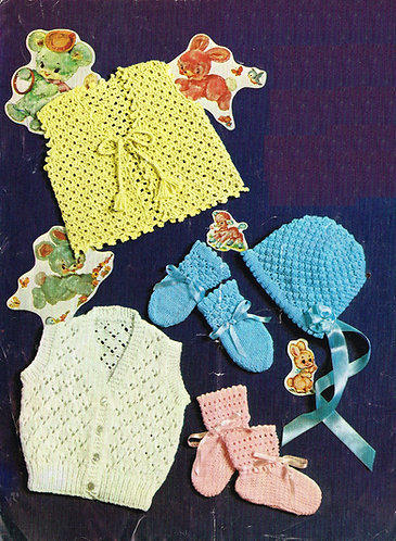 6431P baby vintage knitting pattern PDF