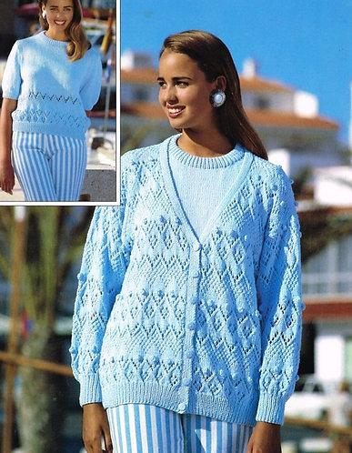 4138H ladies twinset Vintage knititng pattern  PDF Download