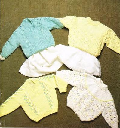 7107P baby vintage knitting pattern PDF