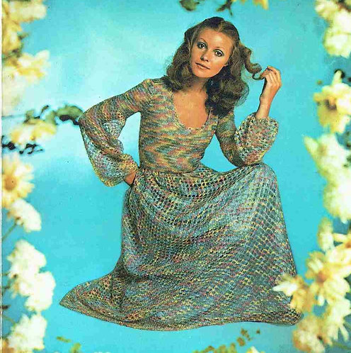 5125T ladies dress vintage crochet pattern  PDF Download