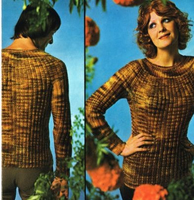 5911T ladies jumper vintage knitting pattern  PDF Download