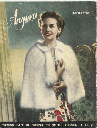 Angora 108 ladies vintage knitting pattern PDF
