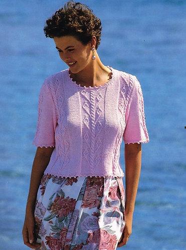 4167H ladies summer top Vintage knititng pattern  PDF Download