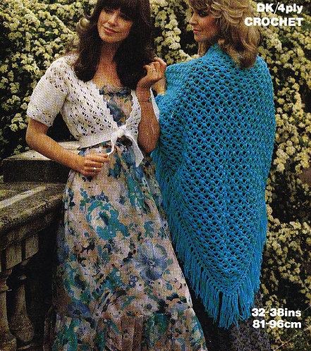 1709 ladies cardigan and shawl Vintage shawl pattern  PDF Download