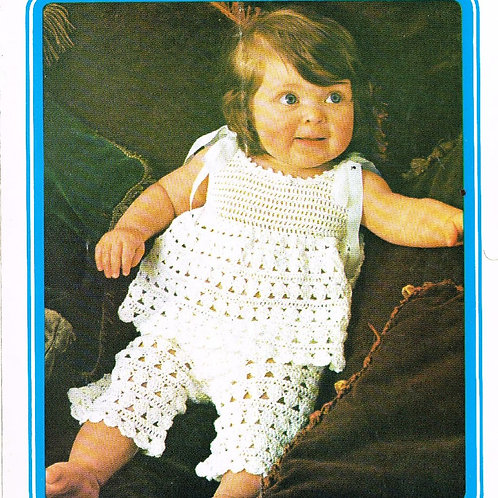 5115T baby trouser suit vintage crochet pattern  PDF Download