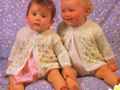 465Ar baby matinee coat vintage knitting pattern PDF