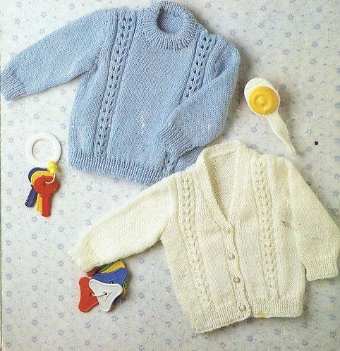 3131PG childrens jumper cardigan vintage knitting pattern  PDF Download