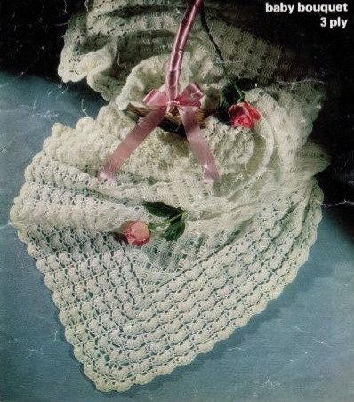 1648M baby shawl vintage crochet pattern  PDF Download