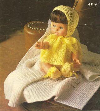 1803M dolls clothes vintage knitting pattern  PDF Download