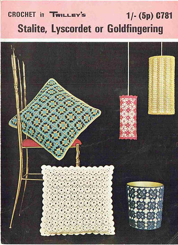 781T cushion covers vintage crochet pattern  PDF Download