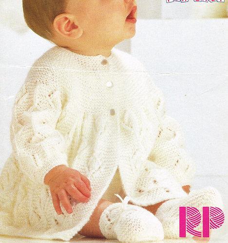 2128RP baby vintage knitting pattern PDF