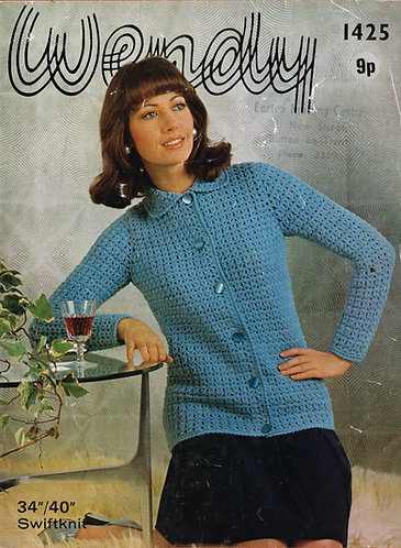 1425W ladies vintage crochet pattern PDF
