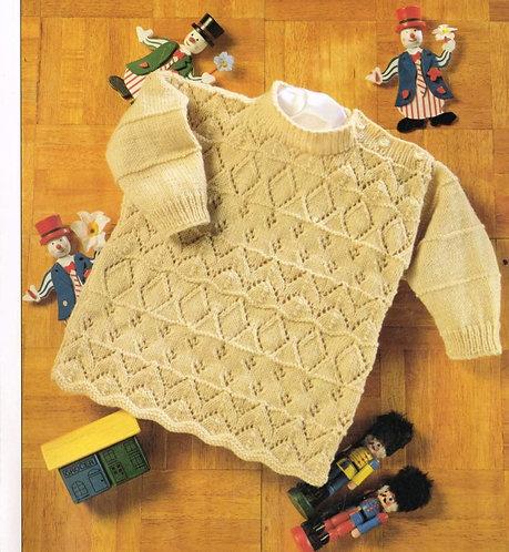4730H baby jumper vintage knitting pattern  PDF Download