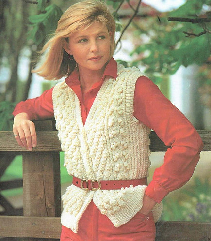 349Ar ladies vintage knitting pattern PDF