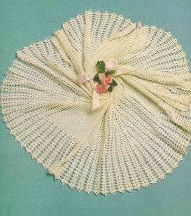 1574M baby shawl vintage crochet pattern  PDF Download