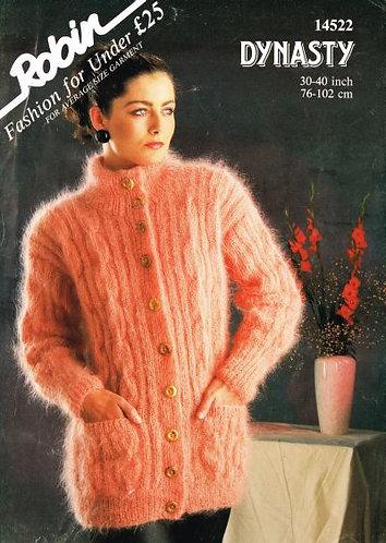 14522R ladies mohair cardigan vintage knitting pattern  PDF Download