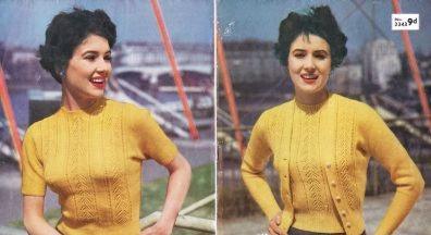 3343 ladies twinset Vintage knitting pattern  PDF Download