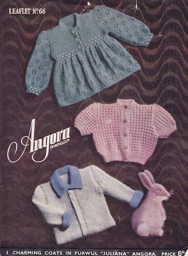 Angora 66 baby vintage knitting pattern PDF