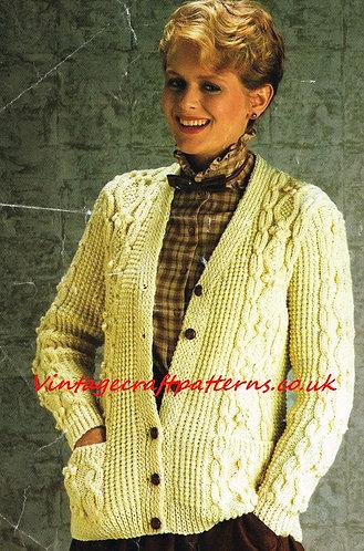 13411R ladies vintage knitting pattern PDF