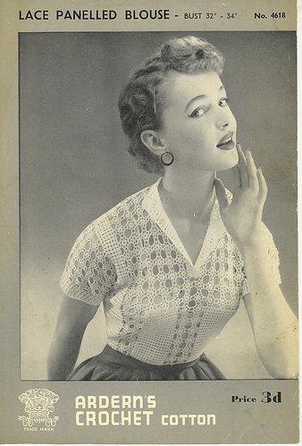 Ardearn 4618 Ladies vintage crochet pattern PDF