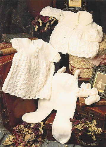 21578 baby matinee set vintage knitting pattern  PDF Download