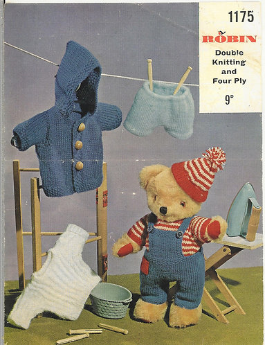 1175R dolls clothes vintage knitting pattern  PDF Download