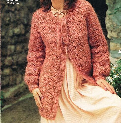 4669 ladies chunky cardigan Vintage knitting pattern  PDF Download