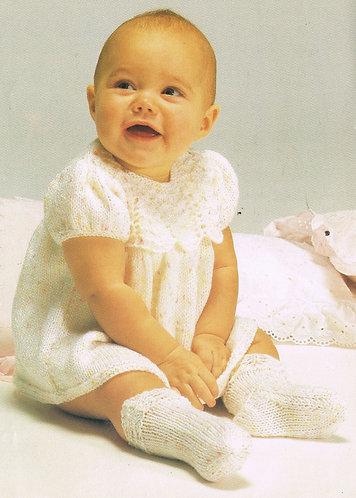 3436S baby vintage knitting pattern PDF