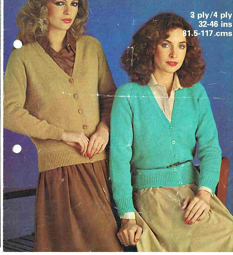 1809 ladies cardigan Vintage knitting pattern PDF Download