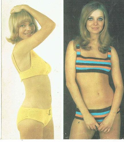 857T ladies bikini vintage crochet pattern  PDF Download