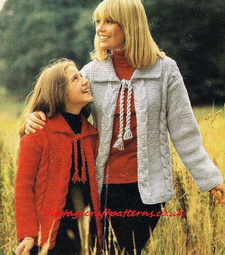 5931S ladies vintage knitting pattern PDF