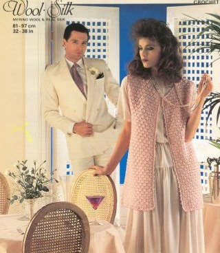 4934 ladies waistcoat Vintage crochet pattern  PDF Download