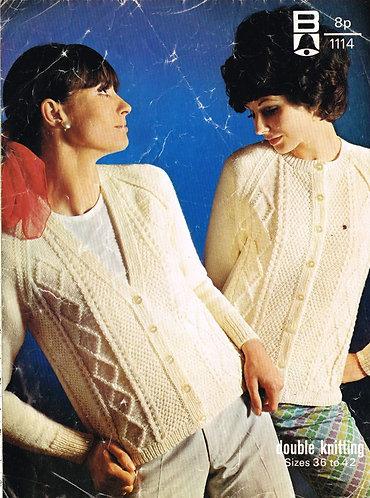 1114Bell ladies vintage knitting pattern PDF