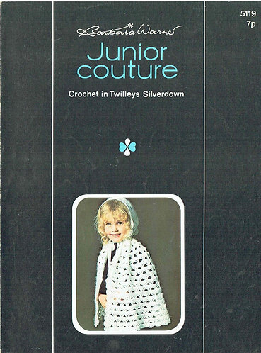 5119T childrens cape vintage crochet pattern  PDF Download