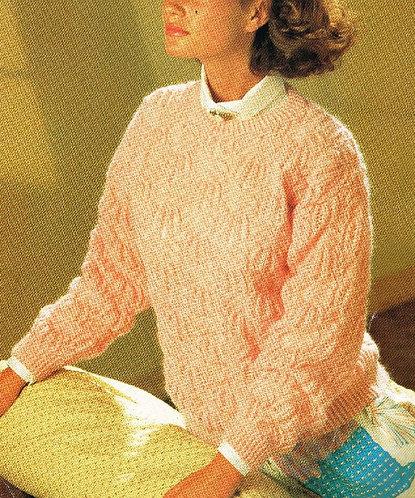 5033P ladies jumper Vintage knitting pattern  PDF Download