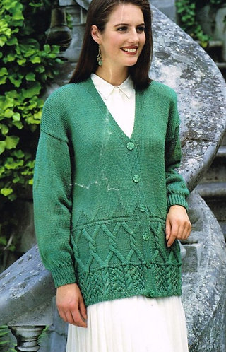 4094H ladies cardigan Vintage knititng pattern  PDF Download