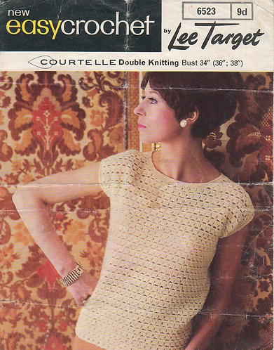 6523Lt ladies summer top vintage crochet pattern   PDF download