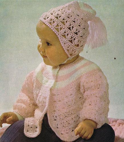 2178R baby vintage crochet pattern PDF