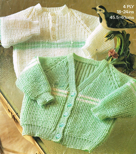 1877p Baby vintage knitting pattern PDF