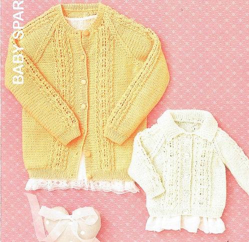 4638 baby cardigan vintage knitting pattern PDF Download