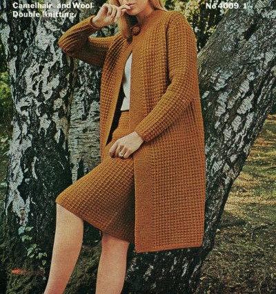 4009 ladies skirt and coat set Vintage knitting pattern  PDF Download