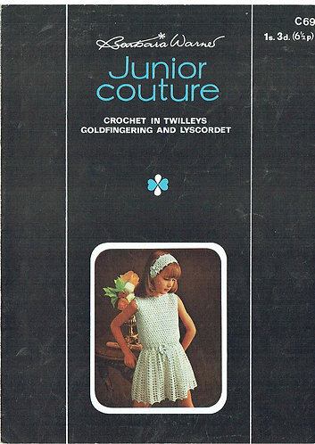 69T girls dress vintage crochet pattern  PDF Download
