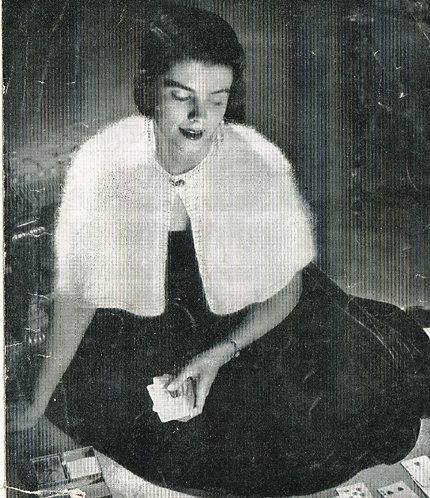 408P ladies cape vintage knitting pattern  PDF Download