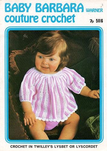 5116Bw baby vintage crochet pattern PDF