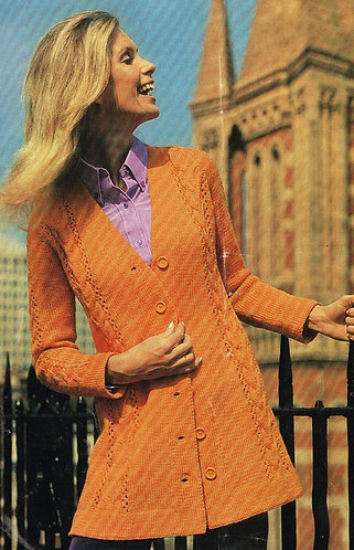 2919E ladies vintage knitting pattern PDF