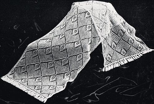 Arabesque shawl vintage knitting pattern PDF