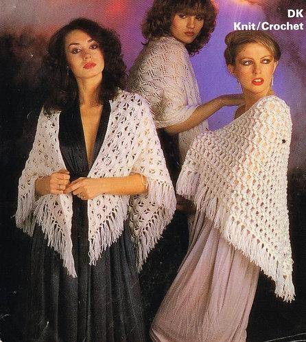 1814 ladies shawls vintage knitting and crochet pattern PDF Download