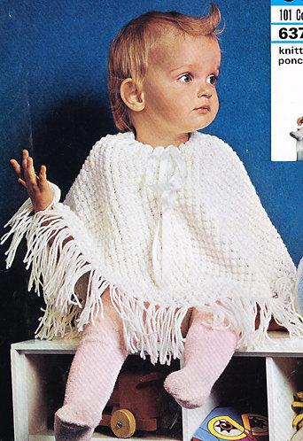 6373P baby vintage knitting pattern PDF