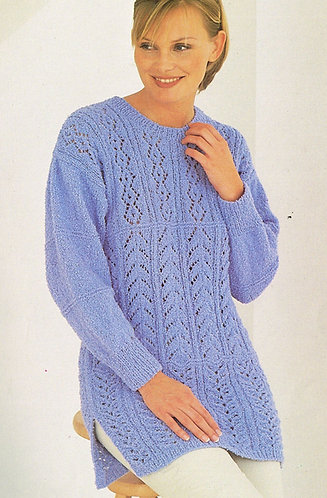 4713 ladies jumper Vintage knitting pattern  PDF Download